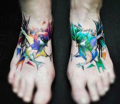 Birds tattoo by Carlos Breakone