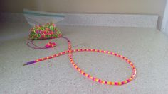 Brighten up a old pair of earphones with some perler beads!!!