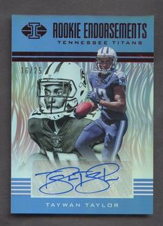 2017 Panini Illusions Red Rookie Endorsements Taywan Taylor RC AUTO 16 25   FootballCards. Gerry Gallagher · Tennessee Titans 8cd6ccf8d