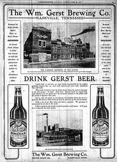 Nashville Banner full page Ad. William Gerst Brewing Co.