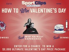 """Win a VD package worth $2,200.00 by participating in Sport Clips """"Valentine's Day Game plan"""" Sweepstakes. Complete the official entry form to enter and win.    Grand Prize:    (1) PlayStation 4 Bundle  (1) PlayStation 4 Console,  (1) PlayStation VR..."""