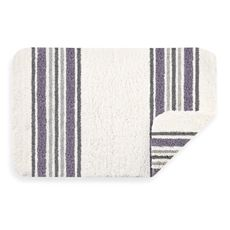 Violet Stripe Real Simple Bath Rug - Bed Bath & Beyond