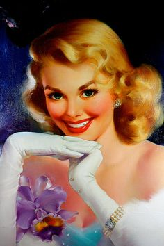 *Pinup...The Purple Orchid  Artist:	Edward Runci  Date:	1950s