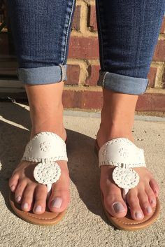 5834d1c0a6d Jack Inspired Sandals - White from Chocolate Shoe Boutique Shoe Boutique