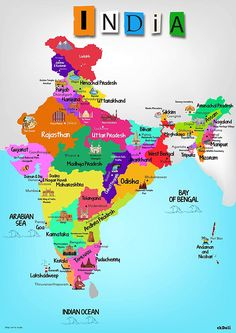 EkDali India Map with Monuments (Paper, X inches, Multicolour) India World Map, Kids World Map, India Map, India For Kids, Maps For Kids, Geography Map, Geography Lessons, General Knowledge Book, Gernal Knowledge
