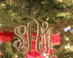 Christmas Ornament with 3initials partially by InitialMoments