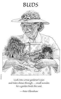 Look into a true gardener's eyes and Eden shines through…small wonder, for a garden feeds the soul. -Peter Ellenshaw #WednesdayWisdom #QOTD #QuoteOfTheDay