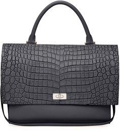 Givenchy Shark Medium Stamped Crocodile Bag, Black on shopstyle.com