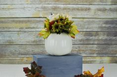 Check out this item in my Etsy shop https://www.etsy.com/listing/481329997/pumpkin-centerpiece-fall-decor