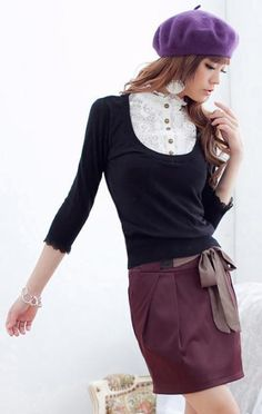 Deep Red Brown/Russet Cotton Skirt