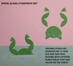 Frog Legs Punch Art. Using Foxy Friends Stamp Set and Foxy Builder Punch from Stampin\' Up!