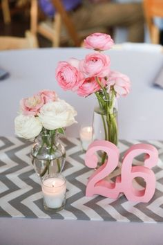 Can't go wrong with pink, gray & chevron details! | Kristina Cipolla Photography