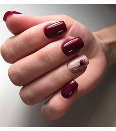 15 inspirations de vernis bordeaux pour l'automne - Rebel Without Applause Burgundy Nails, Red Nails, Hair And Nails, Interview Nails, Gel Nagel Design, Trendy Nail Art, Nail Patterns, Classy Nails, Nagel Gel