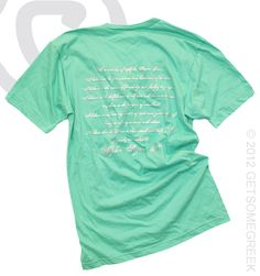 The creed on a shirt love it