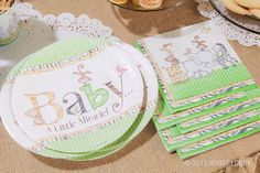 Make party clean-up a snap by using these paper Safari Baby Shower Luncheon Plates. Don't forget the matching accessories like napkins and dessert plates!