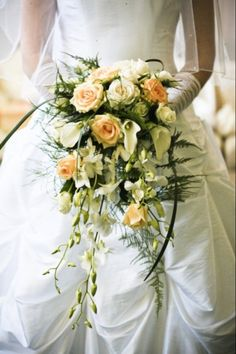 cascading wedding bouquets | wedding cascade bouquet | FlowerShop