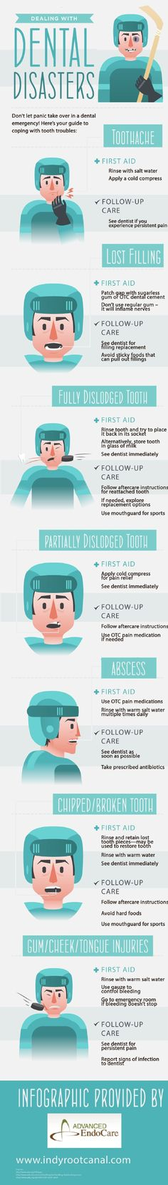 When a patient has a partially dislodged tooth, a cold compress can help to ease the pain until he or she can get in to see the dentist. Check out this infographic from Advanced EndoCare in Indianapolis to learn more about dental emergencies.