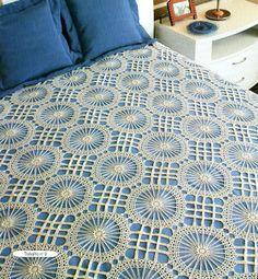 Crochet lace bedspread solo esquema, crochet chart, crochet blanket, de crochet, crochet afghansbedspread, diseño de, colcha, crochet mantascojinestapet, crochet bedspread