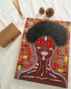 Gouache, Afro, Canvas Art, Artist, Artists, Painted Canvas, Canvas Wall Art, Africa