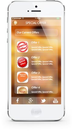 Allow customers to see latest offers. You update offers from the #App Control Panel and users see them right away!