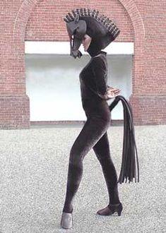 horse costume sexy mask headdress chess piece Cinderella