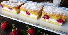 Tvarohovo malinový koláč Raspberry, Cheesecake, Food And Drink, Ice Cream, Ale, Treats, Recipes, Sweet, Exercise
