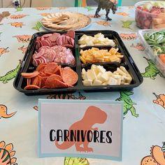 Dinosaur First Birthday, Park Birthday, Fourth Birthday, Dinosaur Themed Food, Dinosaur Cake, Dinosaur Party Foods, First Birthday Boys, Dinosaur Party Activities, Animal Themed Food