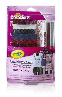 CRAYOLA ROCK CHICK Refill Theme Pack use with Catwalk Creations NEW