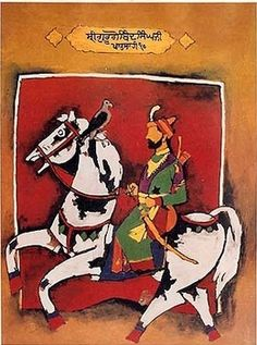 artist Maqbool Fida Husain (Pandharpur, India 1915~2011 London, UK)
