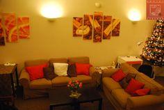 Living room w świątecznym wystroju