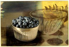 Blueberry  Gouache on paper