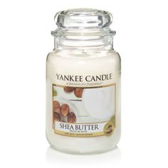 #SheaButter - Large Jar Candle - Yankee Candle Pure contentment… indulge yourself in this creamy smooth scent with hints of beautiful fruit blossoms.
