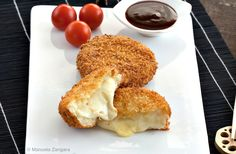 Cheese Korokke - a fantastic Japanese recipe: deep fried and panko coated potato croquettes filled with gooey cheese. Fried Potato Patty, Potato Patties, Potato Croquettes, Tapas Dinner, Chopped Cheese, Indian Cheese, Cheese Dishes, Thinking Day, Exotic Food