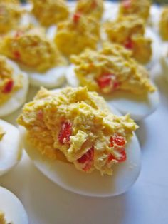 Pimento Cheese Deviled Eggs - perfect for Bowl gamedays & tailgates!