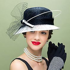 Women's+Feather+Flax+Net+Headpiece-Wedding+Special+Occasion+Casual+Fascinators+Hats+1+Piece+–+USD+$+71.00