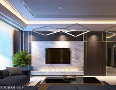 some of sweet girls room on Behance Living Room Tv, Living Room Colors, Living Room Designs, New Kitchen Interior, Elegant Living Room, Modern Living, Tv Unit Design, Ceiling Design, Contemporary Decor