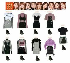 A fashion look from September 2017 featuring Alexander Wang dresses, Versus dresses and Missoni sweaters. Browse and shop related looks. Outfits Otoño, Crop Top Outfits, Kpop Fashion Outfits, Stage Outfits, Korean Girl Fashion, Korean Fashion Trends, Korea Fashion, Teen Fashion, Kpop Costume
