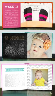 The 10 most creative way to document your baby's first year | Cardstore Blog...example of a clean and simple baby book