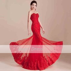 Long Red Prom Dress / Long Prom Dresses/ Elegant by angeldress2014, $145.00