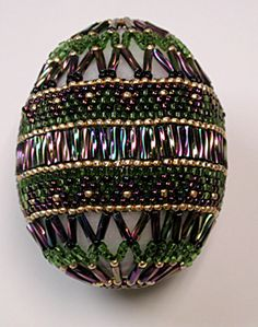 Beading projects, patterns & instruction: beaded eggs