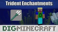 Learn about the 4 different trident enchantments (Loyalty, Riptide, Channeling, Impaling) in #Minecraft Aquatic Update in this youtube video Trident, Loyalty, Enchanted, Minecraft, Channel, Learning, Youtube, Teaching, Education