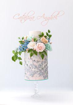 Elie Saab wedding inspired cake