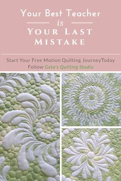 Learning quilting from mistakes /Geta's Quilting Studio
