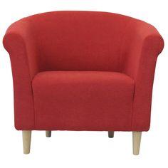 Savannah Solid Club Chair With Beige Finish