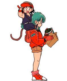 Bulma and Goku Dbz, Goku And Bulma, Kid Goku, Otaku, Dragon Ball Z, Goten E Trunks, Character Art, Character Design, Manga Dragon