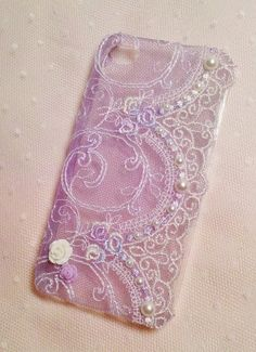 Diy Handmade Lace Pearl Phone Case O Gorgeous by HeartmadeMacau, $19.99