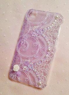 Diy Handmade Lace Pearl Phone Case O Gorgeous by HeartmadeMacau, $19.99