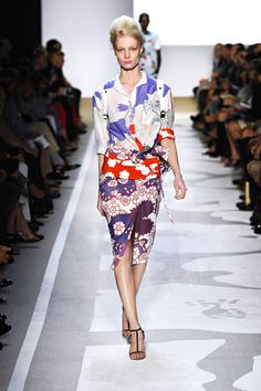 The way Diane Von Furstenberg does prints in her 2012 spring collection is magic. Love. Everything.