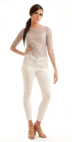 Swan lace scalloped blouse from Style Made Here on Etsy, $95.