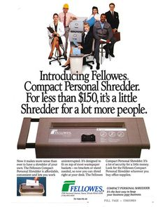 100 Years of Fellowes - Personal Shredder My Design, The 100